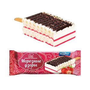 草莓味巧克力味花邊冰淇淋